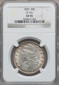 Bust Half Dollars, 1825 50C O-101 XF45 NGC. NGC Census: (110/787). PCGS Population(164/816). Mintage: 2,900,000. Numismedia Wsl. Price for pr...