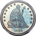 Proof Seated Quarters, 1880 25C PR67 NGC....