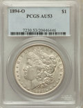 Morgan Dollars: , 1894-O $1 AU53 PCGS. PCGS Population (386/2242). NGC Census:(389/2236). Mintage: 1,723,000. Numismedia Wsl. Price for prob...