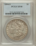 Morgan Dollars: , 1894-S $1 XF40 PCGS. PCGS Population (73/3915). NGC Census:(41/2415). Mintage: 1,260,000. Numismedia Wsl. Price for proble...