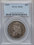 Bust Half Dollars: , 1826 50C XF45 PCGS. PCGS Population (235/1180). NGC Census:(149/1162). Mintage: 4,000,000. Numismedia Wsl. Price for probl...