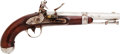 Handguns:Muzzle loading, U.S. Model 1836 Flintlock Pistol by Robert Johnson. ...