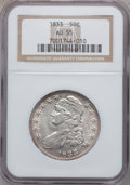 Bust Half Dollars: , 1833 50C AU55 NGC. NGC Census: (188/670). PCGS Population(222/529). Mintage: 5,206,000. Numismedia Wsl. Price for problem...
