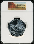 Modern Bullion Coins, 2010 25C Grand Canyon Five Ounce Silver Gem Uncirculated NGC. NGCCensus: (188/768). PCGS Population (1/162). The ima...