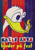 "Movie Posters:Animated, Donald Duck Festival (RKO, 1955). Swedish One Sheet (27.5"" X 39.5""). A poster for a showing of a collection of Donald Duck c..."