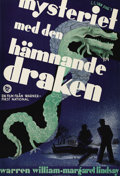 "Movie Posters:Mystery, The Dragon Murder Case (Warner Brothers, 1934). Swedish One Sheet(27.5"" X 39.5""). Directed by H. Bruce Humberstone. Starrin..."