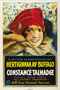 """The Duchess of Buffalo (First National, 1926). Swedish One Sheet (27.5"""" X 39.5""""). Directed by Sidney A. Frankl..."""