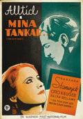 "Movie Posters:War, Ever in My Heart (Warner Brothers, 1933). Swedish One Sheet (27.5""X 39.5""). Directed by Archie Mayo. Starring Barbara Stanw..."