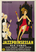 """Movie Posters:Comedy, The Exalted Flapper (Fox, 1929). Swedish One Sheet (27.5"""" X 39.5""""). Directed by James Tinling. Starring Sue Carol, Louise Dr..."""