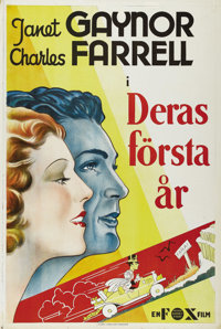 "The First Year (Fox, 1932). Swedish One Sheet (27.5"" X 39.5""). Directed by William K. Howard. Starring Janet G..."
