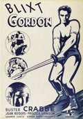 "Movie Posters:Science Fiction, Flash Gordon (Universal, R-1944). Swedish One Sheet (27.5"" X39.5""). Directed by Frederick Stephani. Starring Buster Crabbe,..."