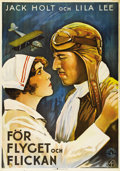 "Movie Posters:Adventure, Flight (Columbia, 1929). Swedish One Sheet (27.5"" X 39.5"").Directed by Frank Capra. Starring Jack Holt and Lila Lee. There ..."