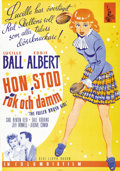 """Movie Posters:Comedy, The Fuller Brush Girl (Columbia, 1950). Swedish One Sheet (27.5"""" X 39.5""""). Directed by Lloyd Bacon. Starring Lucille Ball an..."""