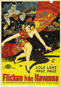 "Movie Posters:Adventure, The Girl From Havana (Fox, 1929). Swedish One Sheet (27.5"" X39.5""). Directed by Benjamin Stoloff. Starring Lola Lane, Paul ..."
