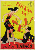 """Movie Posters:Comedy, The Girl Said No (MGM, 1930). Swedish One Sheet (27.5"""" X 39.5"""").Directed by Sam Wood. Starring Leila Hyams and William Hain..."""