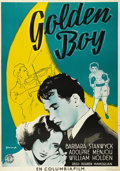 "Movie Posters:Drama, Golden Boy (Columbia, 1939). Swedish One Sheet (27.5"" X 39.5"").Directed by Rouben Mamoulian. Starring Barbara Stanwyck, Wil..."