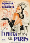 """Movie Posters:Comedy, Good Girls Go to Paris (Columbia, 1939). Swedish One Sheet (27.5"""" X39.5""""). Directed by Ken Englund, Alexander Hall. Starrin..."""