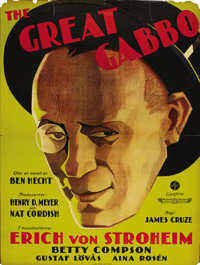 "The Great Gabbo (Sono Art-World Wide Pictures, 1929). Swedish Poster (35"" X 48""). Directed by James Cruze. Sta..."