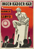 """Movie Posters:Comedy, Harold Lloyd Stock Poster (Paramount, 1933). Swedish One Sheet (27.5"""" X 39.5""""). Starring Harold Lloyd. There is a creasing o..."""