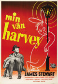 "Movie Posters:Comedy, Harvey (Universal International, 1950). Swedish One Sheet (27.5"" X39.5""). Directed by Henry Koster. Starring James Stewart,..."