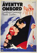 """Movie Posters:Comedy, Heads We Go (Wardour Films, 1933). Swedish One Sheet (27.5"""" X 39.5""""). Directed by Monty Banks. Starring Constance Cummings, ..."""