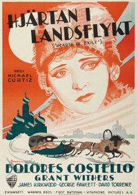 "Hearts in Exile (Warner Brothers, 1929). Swedish One Sheet (27.5"" X 39.5""). Directed by Michael Curtiz. Starri..."