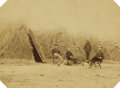 Photography:Official Photos, APACHE WICKIUP STRAW HOUSES 1880 C. S. FLY TOMBSTONE, ca 1880s.This imperial size photograph of Apache Wickiup's shows the...(Total: 1 Item)