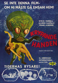"Movie Posters:Science Fiction, Invasion of the Saucermen (American International, 1957). SwedishOne Sheet (27.5"" X 39.5""). Directed by Edward L. Cahn. Sta..."
