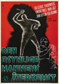 """Movie Posters:Horror, The Invisible Man Returns (Universal, 1940). Swedish One Sheet (27.5"""" X 39.5""""). Directed by Joe May. Starring Cedric Hardwic..."""