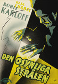 "Movie Posters:Horror, The Invisible Ray (Universal, 1935). Swedish One Sheet (27.5"" X39.5""). Directed by: Lambert Hillyer. Starring Bela Lugosi a..."
