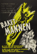 """Movie Posters:Serial, King of the Rocketmen (Republic, 1949). Swedish One Sheet (27.5"""" X 39.5""""). Directed by Fred C. Brannon. Starring Tristram Co..."""
