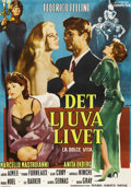 "Movie Posters:Foreign, La Dolce Vita (Cineriz, 1961). Swedish One Sheet (27.5"" X 39.5"").Directed by Federico Fellini. Starring Marcello Mastroiann..."