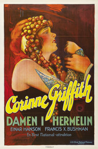 """The Lady in Ermine (First National, 1927). Swedish One Sheet (27.5"""" X 39.5""""). Directed by James Flood. Starrin..."""