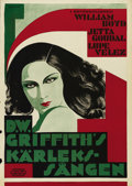 "Movie Posters:Drama, Lady of the Pavements (United Artists, 1929). Swedish One Sheet(27.5"" X 39.5""). Directed by D. W. Griffith. Starring Lupe V..."