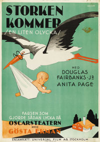 "Little Accident (Universal, 1930). Swedish One Sheet (27.5"" X 39.5""). Directed by William James Craft. Starrin..."