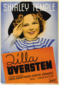 "The Little Colonel (Fox, 1935). Swedish One Sheet (27.5"" X 39.5""). Directed by David Butler. Starring Shirley..."