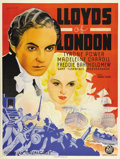 """Movie Posters:Drama, Lloyds of London (20th Century Fox, 1936). Swedish Poster (36"""" X48""""). Directed by Henry King. Starring Tyrone Power and Mad..."""