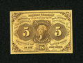Fractional Currency:First Issue, Fr. 1230 5c First Issue Superb Gem New....