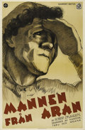 """Movie Posters:Documentary, Man of Aran (Gaumont British, 1934). Swedish Poster (31"""" X 47""""). Directed by Robert Flaherty. Starring Colman """"Tiger"""" King, ..."""