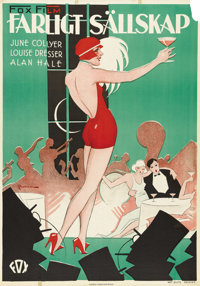 """Not Quite Decent (Fox, 1929). Swedish One Sheet (27.5"""" X 39.5""""). Directed by Irving Cummings. Starring June Co..."""