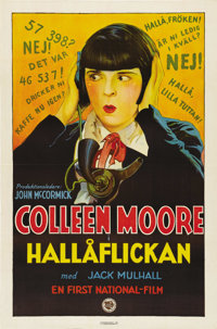 "Orchids and Ermine (First National, 1927). Swedish One Sheet (27.5"" X 39.5""). Directed by: Alfred Santell. Sta..."