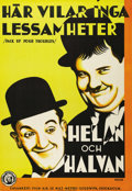 "Movie Posters:Comedy, Pack Up Your Troubles (MGM, 1932). Swedish One Sheet (27.5"" X39.5""). Directed by George Marshall and Ray McCarey. Starring ..."