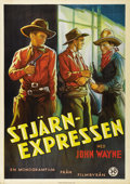 "Movie Posters:Western, Paradise Canyon (Monogram, 1935). Swedish One Sheet (27.5"" X39.5""). Directed by Carl Pierson. Starring John Wayne, Marion ..."