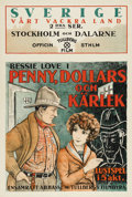 """Movie Posters:Western, Penny of Top Hill Trail (Federated Film Exchanges of America, 1921). Swedish One Sheet (23.5"""" X 35""""). Directed by Arthur Ber..."""