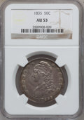 Bust Half Dollars: , 1835 50C AU53 NGC. NGC Census: (64/501). PCGS Population (74/388).Mintage: 5,352,006. Numismedia Wsl. Price for problem fr...