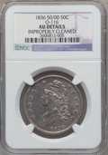 Bust Half Dollars, 1836 50C 50 Over 00, O-116 -- Improperly Cleaned -- NGC Details.AU. NGC Census: (2/28). PCGS Population (8/35). Numismedi...
