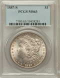 Morgan Dollars: , 1887-S $1 MS63 PCGS. PCGS Population (2635/2113). NGC Census:(1572/1123). Mintage: 1,771,000. Numismedia Wsl. Price for pr...