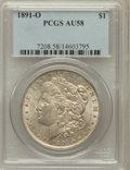Morgan Dollars: , 1891-O $1 AU58 PCGS. PCGS Population (93/5107). NGC Census:(100/3828). Mintage: 7,954,529. Numismedia Wsl. Price for probl...