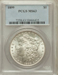 Morgan Dollars: , 1899 $1 MS63 PCGS. PCGS Population (3573/5024). NGC Census:(2589/3503). Mintage: 330,846. Numismedia Wsl. Price for proble...