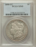 Morgan Dollars: , 1890-CC $1 XF45 PCGS. PCGS Population (189/9523). NGC Census:(126/5246). Mintage: 2,309,041. Numismedia Wsl. Price for pro...